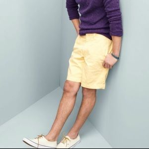 J. Crew 33 soft yellow 100% cotton shorts